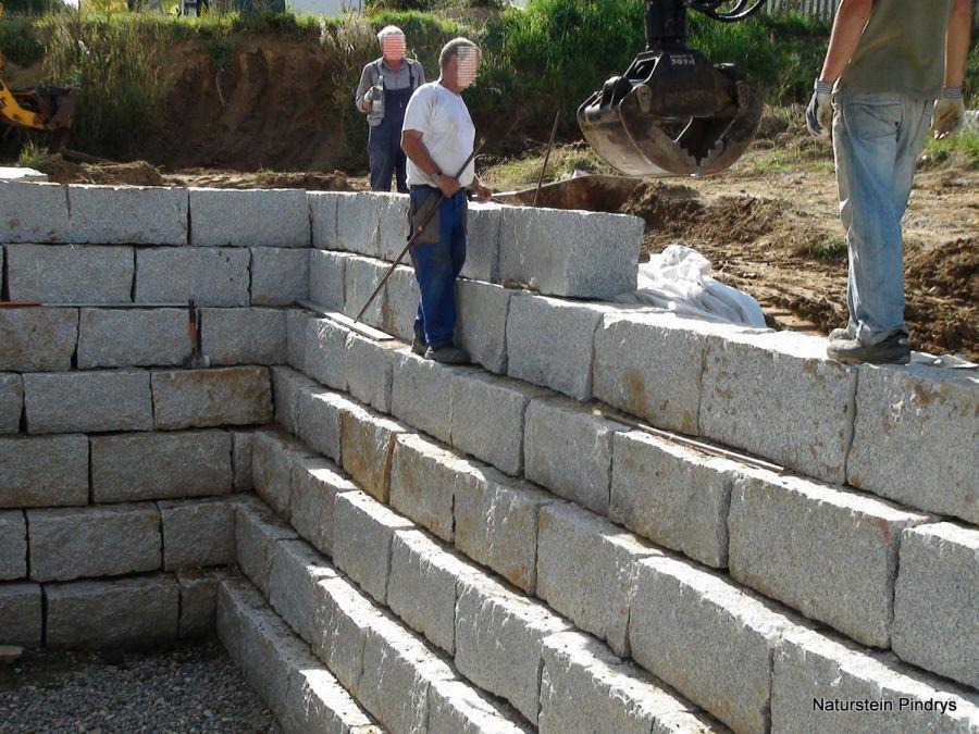 """granit mauersteine 40x40x80 cm """"grau mittelkorn"""" granitsteine, Garten und Bauen"""